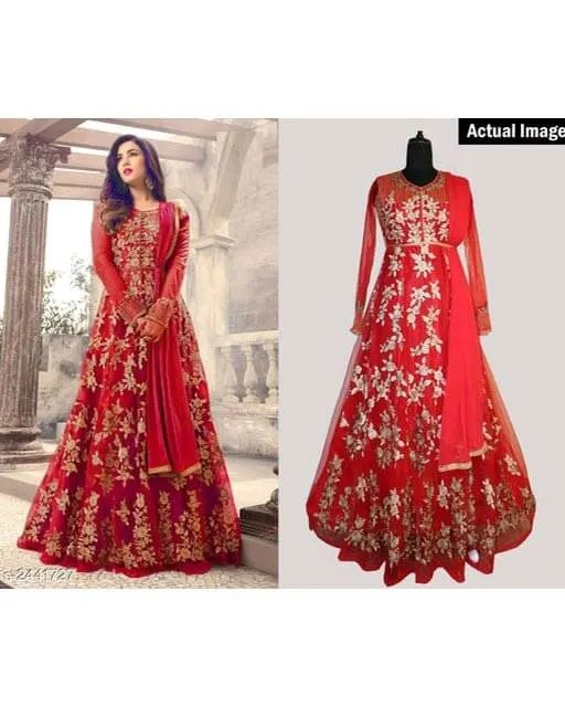Attractive Trendy Heavy Net Suits & Dress Materials Vol 1
