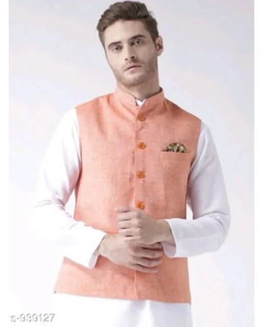 Hangup Mens Stylish Solid Ethnic Jacket Vol 1 (10)