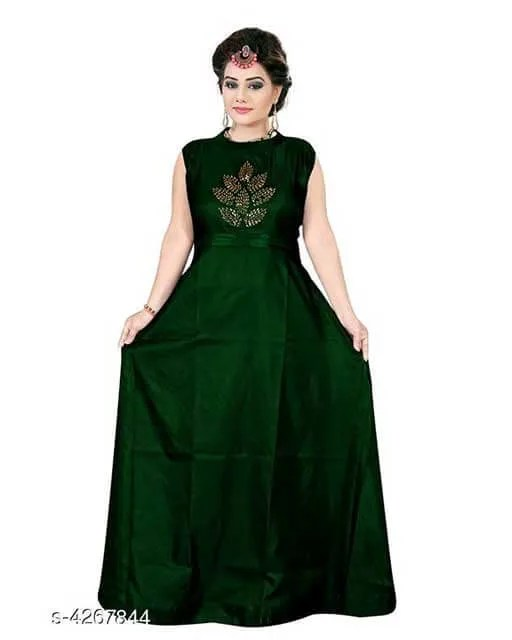 Aakarsha Sensational Taffeta Silk Women's Gowns
