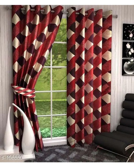 Printed Polyester Door Curtains Vol 2-5