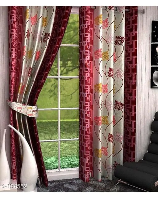 Printed Polyester Door Curtains Vol 2-12