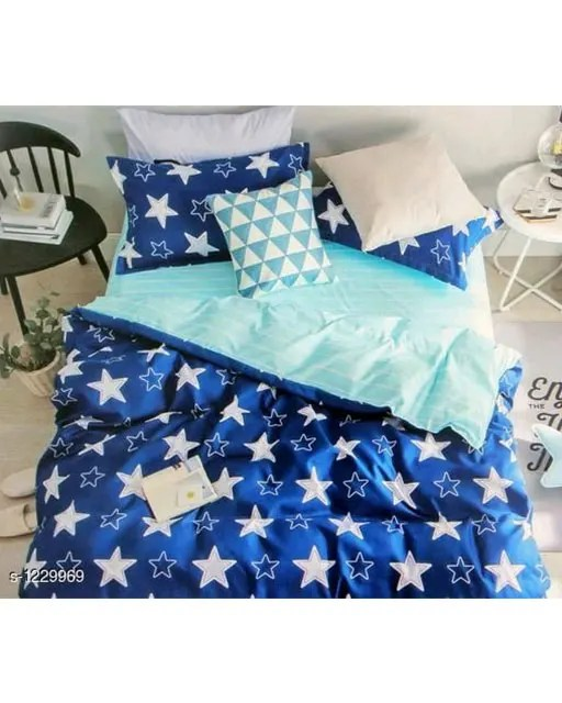 Blissful Comfort Cotton Printed Double Bedsheets Vol 16 (3)