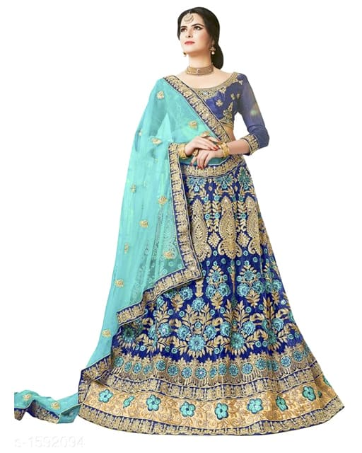 Gorgeous Stunning Net Embroidered Women's Lehengas Vol 1