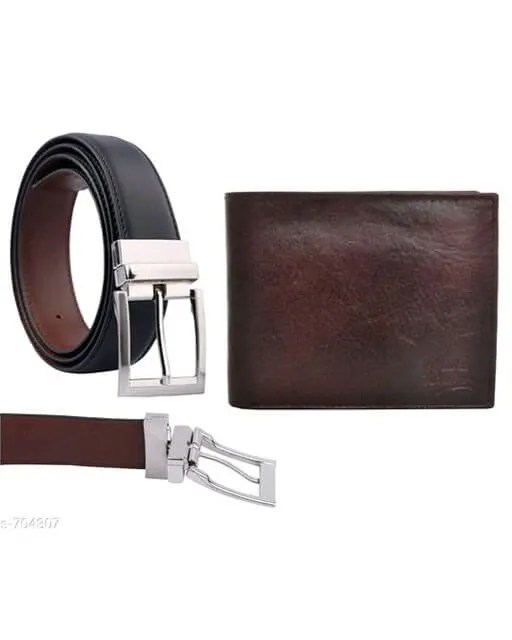 Stylish Men's Leather Reversible Belts With Wallet web Vol 2 (7)