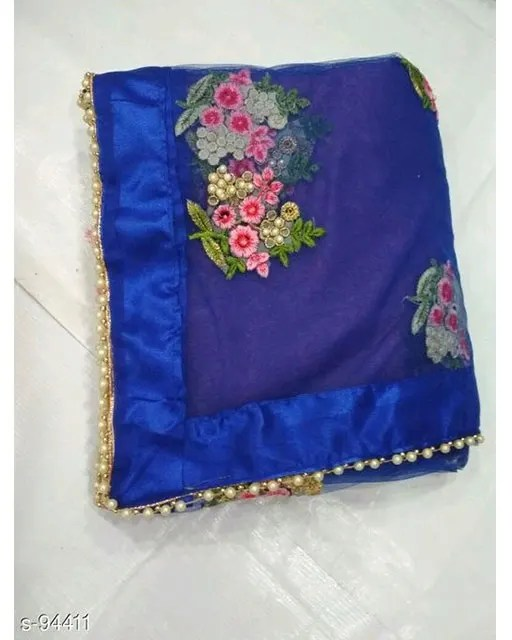 Floret Embroidered Net Sarees web 1 (4)