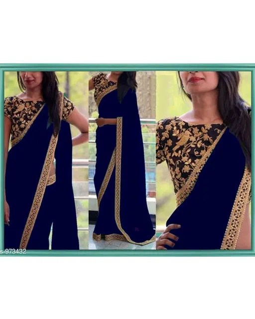 Gorgeous Georgette Thread Work Saree web (2)