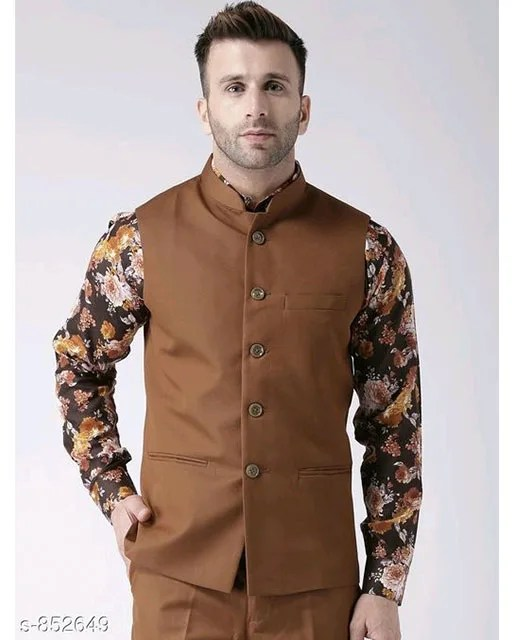 Perfect-Fit Men's Polyester Viscose Waist Coats Vol 1 (7)