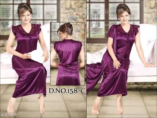 Fancy Satin Night Dresses Vol 2