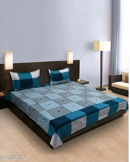 Smart Buy Colorful Beautiful 3D Printed Double Bedsheets Vol 1 (1)