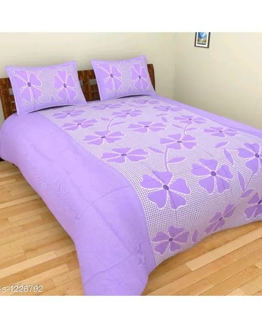 Smart Buy Colorful Beautiful 3D Printed Double Bedsheets Vol 1