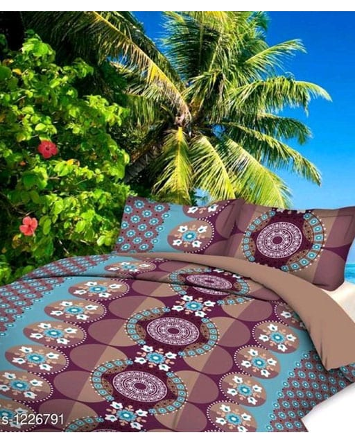 Smart Buy Colorful Beautiful 3D Printed Double Bedsheets Vol 1 (3)