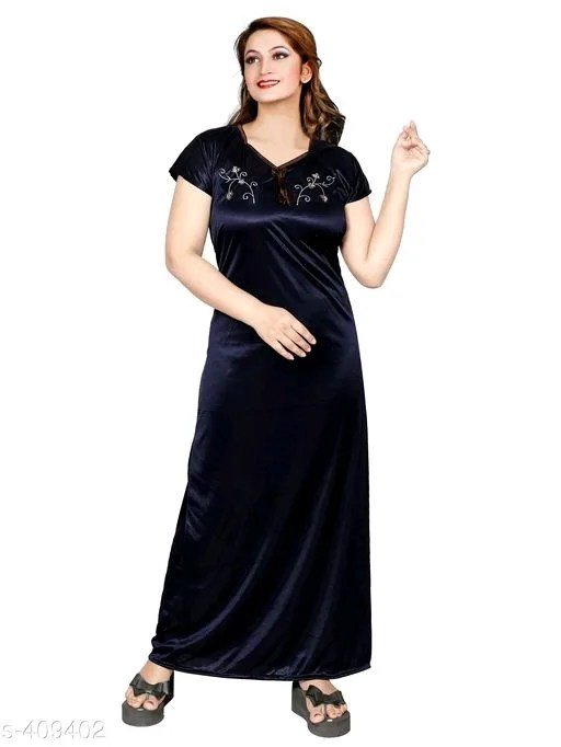 Women's Stylish Satin Night Gowns Vol 1
