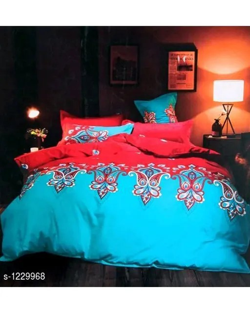 Blissful Comfort Cotton Printed Double Bedsheets Vol 16 (4)