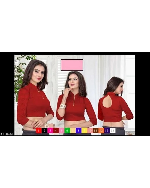 Ethnic Cotton Lycra Blouse (6)