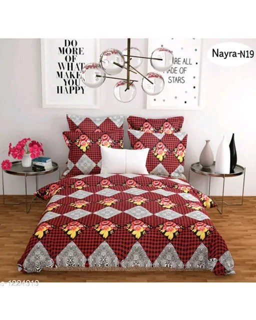 Stellar Latest Poly Cotton Double Bedsheets Vol 1 (12)