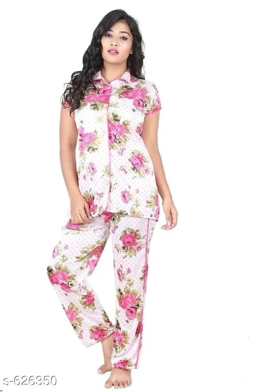 Women's Stylish Satin Nightwears Vol 5