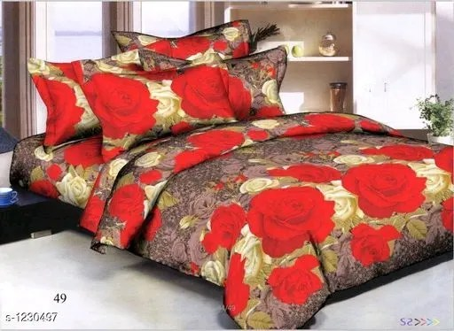 Uniqchoice Artistic Polycotton Double Bed Sheets Vol 1