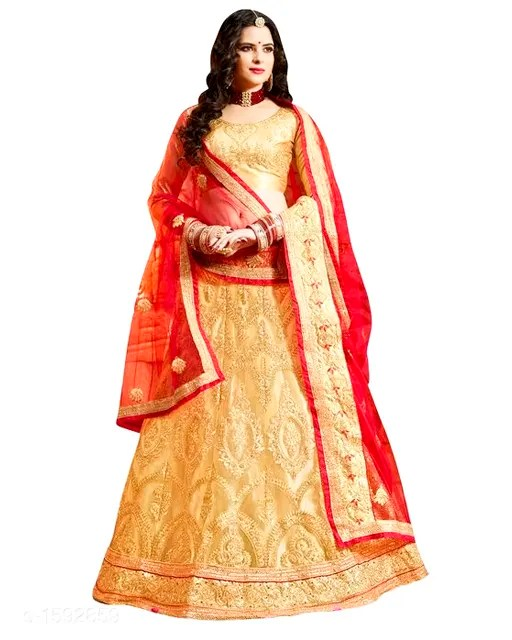 Gorgeous Stunning Net Embroidered Women's Lehengas Vol 2 (1)