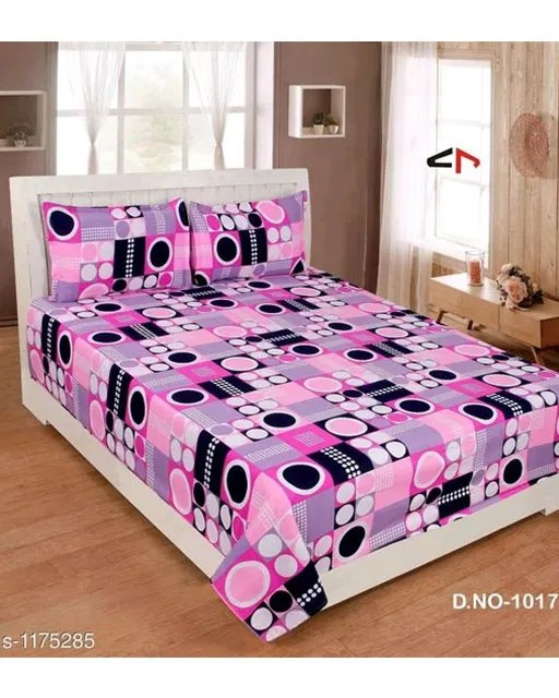 Splendor Exotic Poly Cotton Double Bedsheets Vol 3