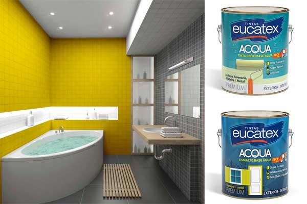 Eucatex para pintura em banheiros