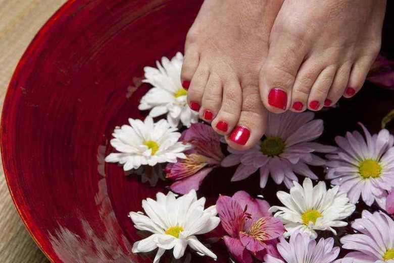 gorgeous feet at home