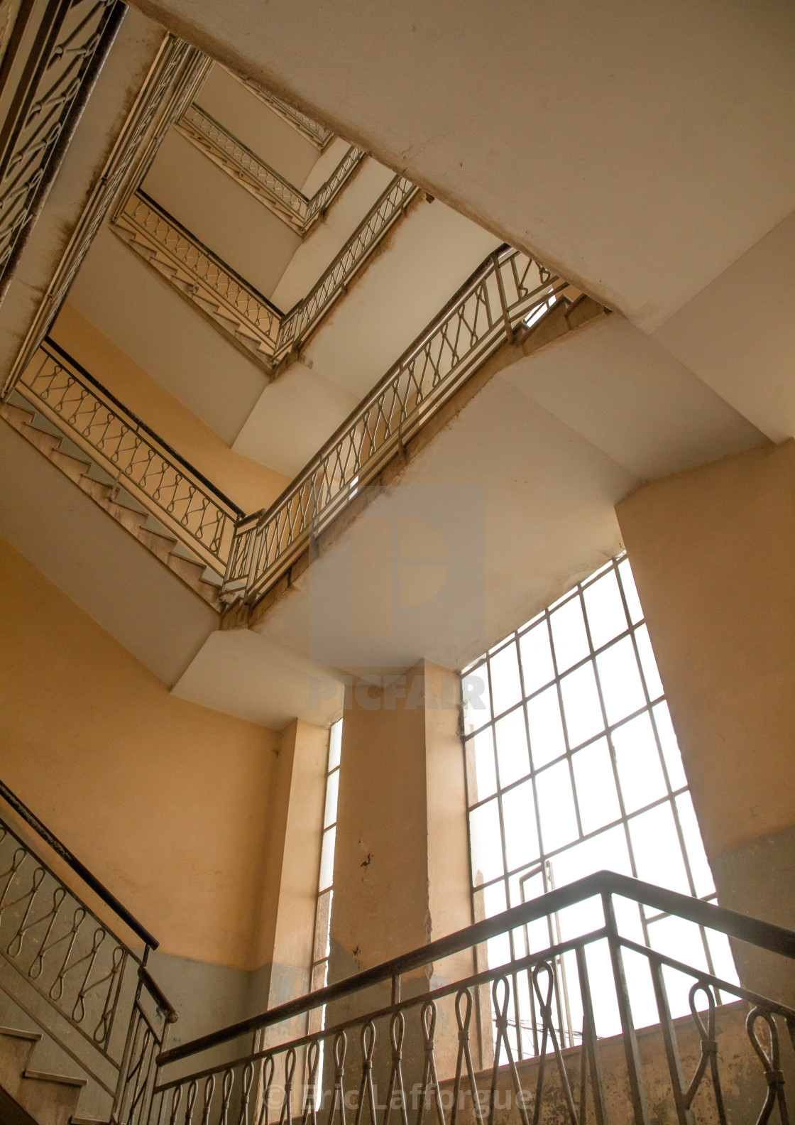 https www picfair com pics 09034513 old art deco style stairs from the italian colonial times central region