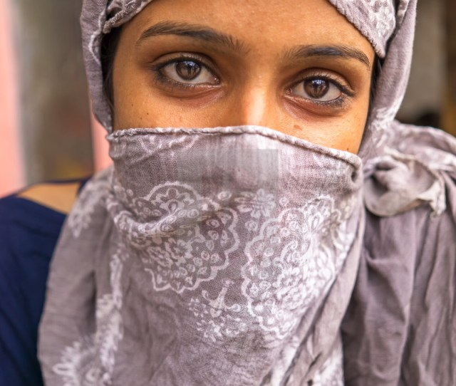 Portrait Of A Young Indian Girl With Headscarf Stock Image