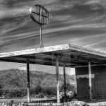 Abandoned Gas Station Desert Center California Black White License Download Or Print For 12 40 Photos Picfair
