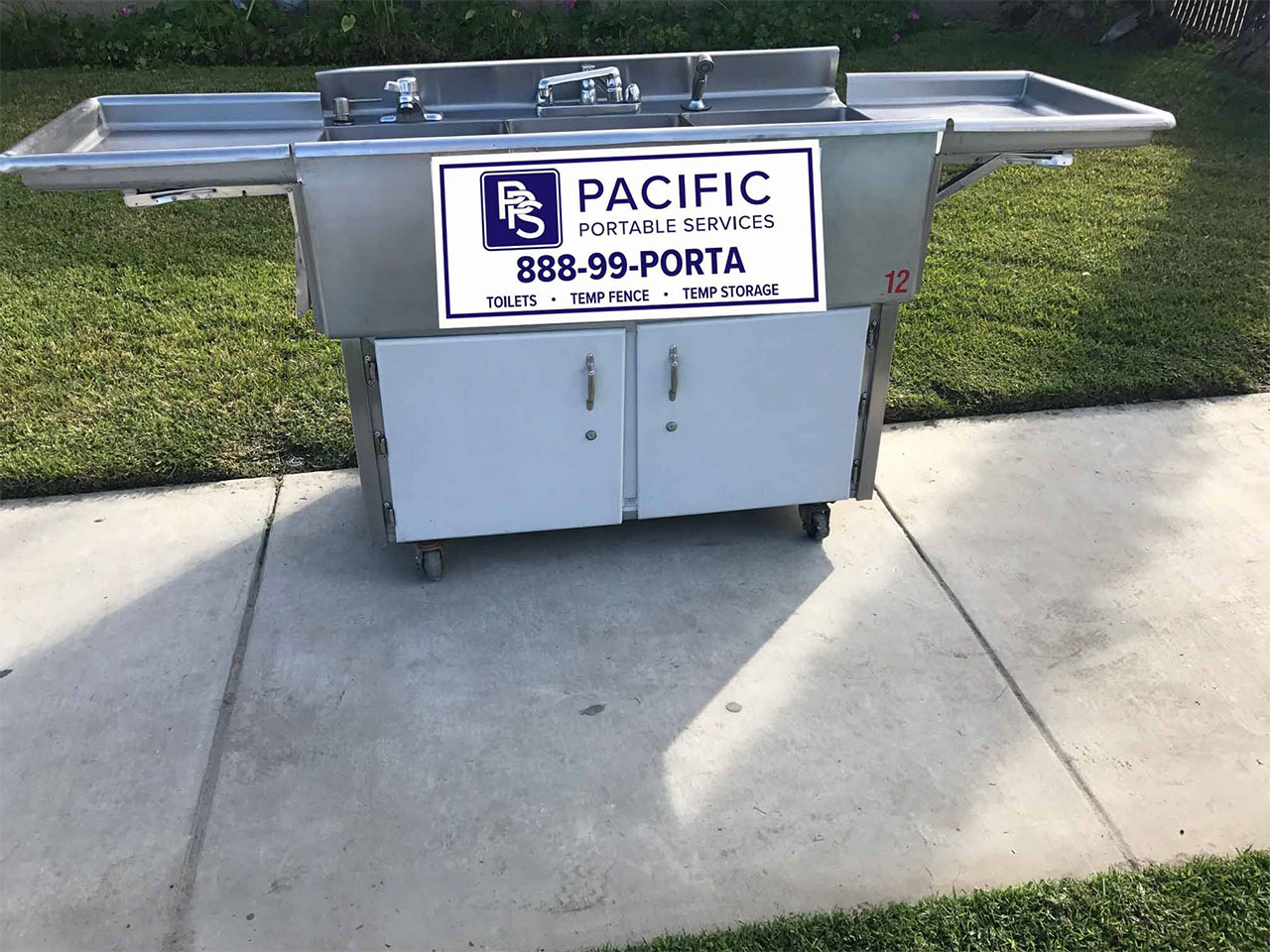 three compartment sink rental pacific