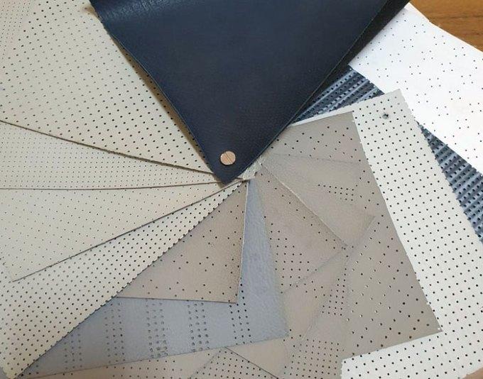 Versatilidade do couro e tecido perfurado na Treuni