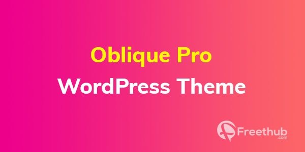 Oblique Pro WordPress Theme free download