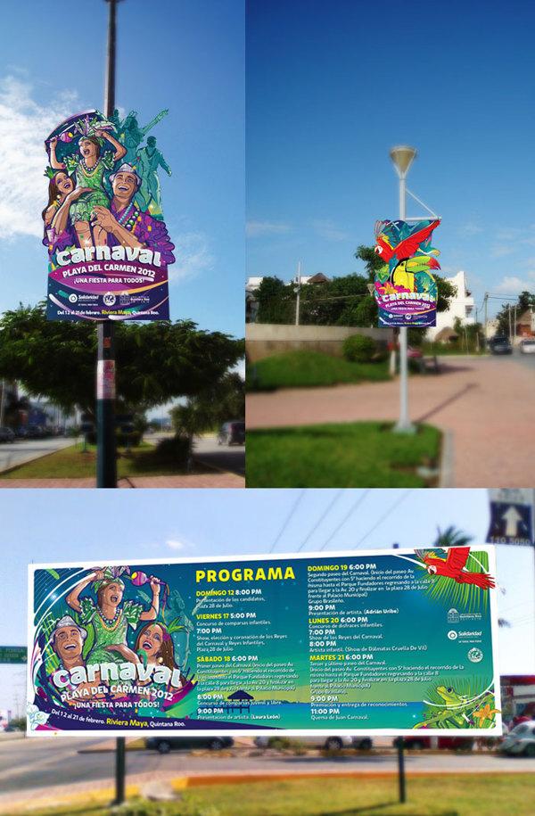 Carnaval 2012 Playa del Carmen - pendones