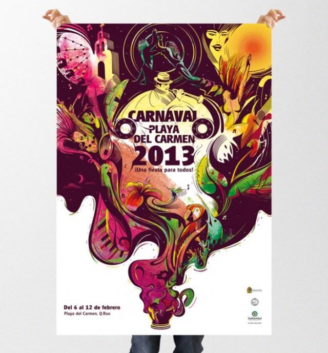 Poster Carnaval Playa del Carmen 2013
