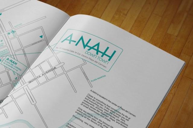 A-Nah Downtown - Brochure mapa