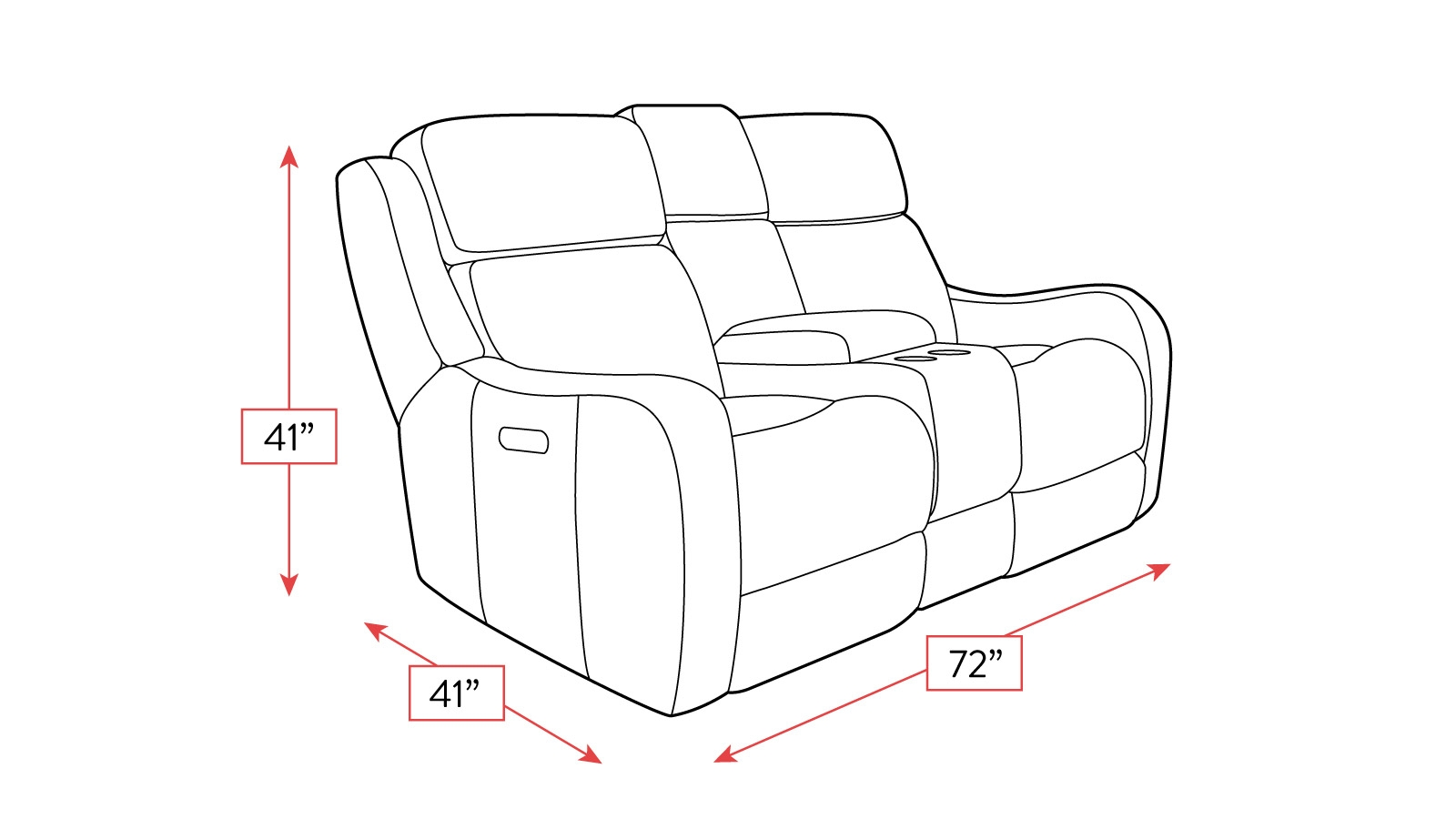 Alamo Power Reclining Loveseat W Console Amp Power Headrest