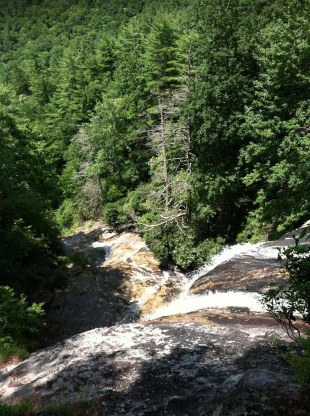 View Down Glen Falls, Highlands, NC