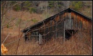barn in field Cullowhee Glenville side road mountain