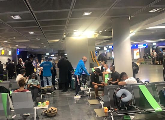Israelis stuck at Frankfurt airport / Photo: Private photo