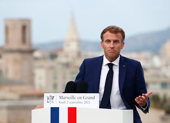 Président de la République, Emanuel Macron / Photo : Associated Press, Guillaume Horcajuelo