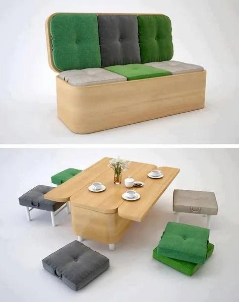 Meuble multifonction- banc table