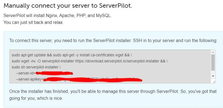 ServerPilot Manual Connect to Google Cloud Platform VM