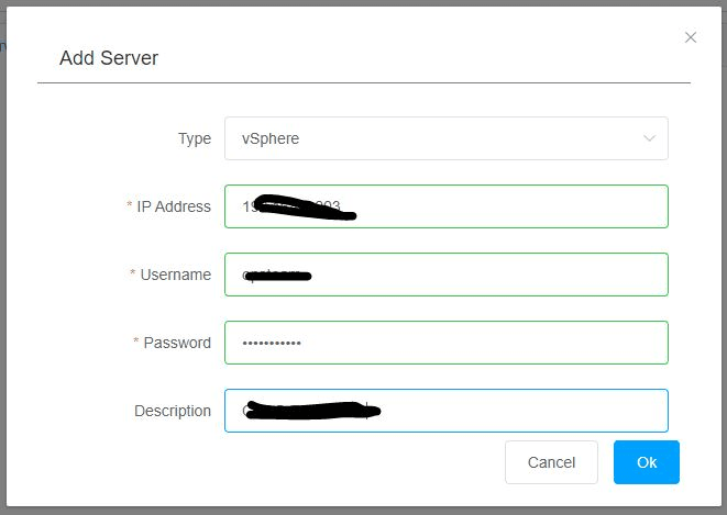 Hybrid Backup Recovery Gateway Add Server