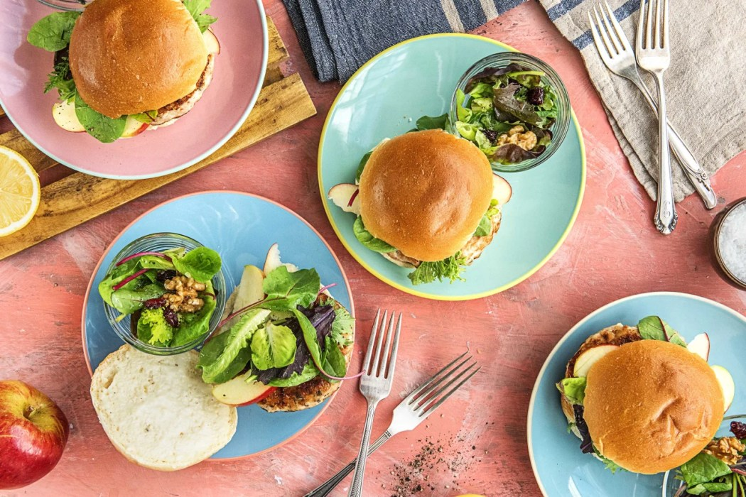 Apple Sage Turkey Burgers