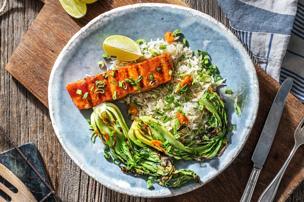 Grilled-Sriracha-Glazed-Salmon-how to grill-HelloFresh