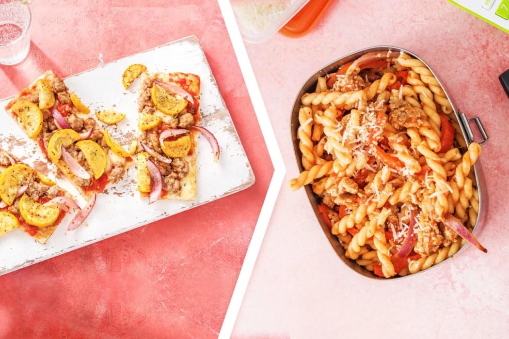 sausage pizza-HelloFresh-Dinner 2 Lunch