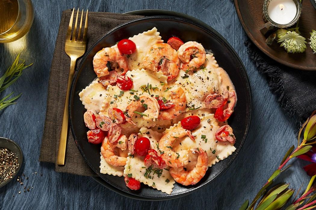 HelloFresh-holiday recipes-Lobster-Ravioli-Shrimp