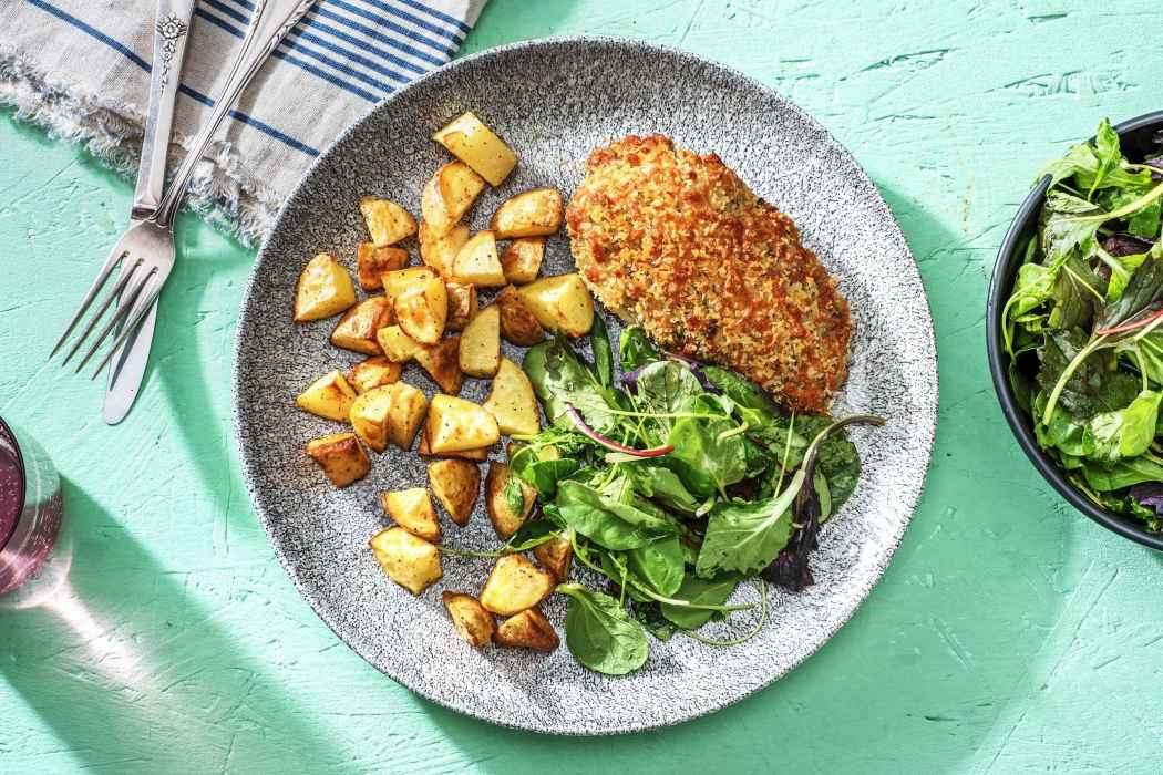 calorie smart-HelloFresh-Pesto-Panko-Chicken