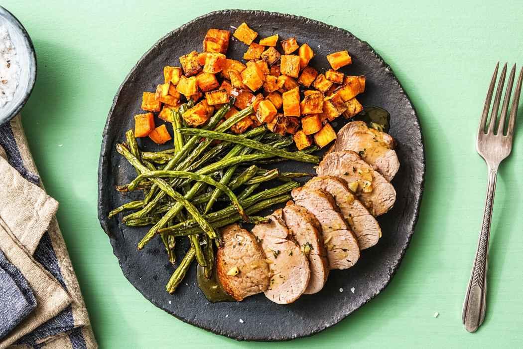 calorie smart-HelloFresh-Honey-Glazed-Pork-Tenderloin