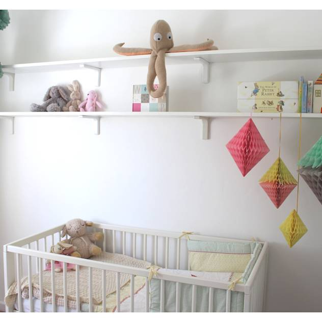 Room overview : Eclectic style nursery/kids room by Crow's Nest Interiors