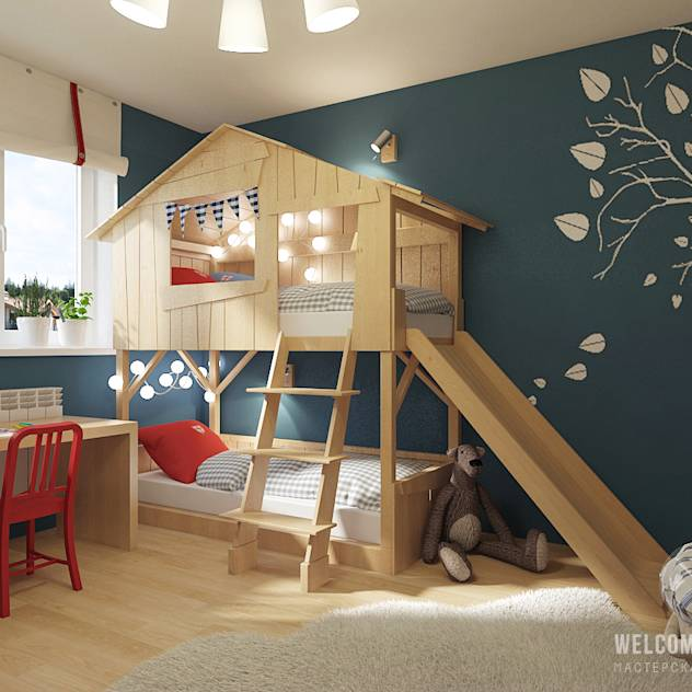 Eclectic style nursery/kids room by Мастерская дизайна Welcome Studio